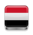 Metal icon of Yemen vector image vector image