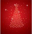 holiday tree vector image