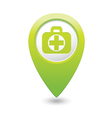 medical icon green pointer2 vector image