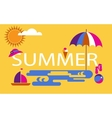 summer time seasonal vacation at the beach vector image
