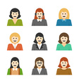 Woman Characters Faces Avatars User Profile vector image
