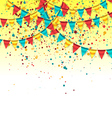 Birthday Background with Colorful Garlands vector image