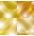 golden backgrounds with light abstractions - set vector image