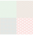 set of simple cute backgrounds vector image vector image