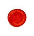 acrylic red circle vector image
