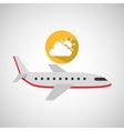 plane travel weather forecast cloud sun icon vector image