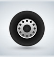 truck tire icon vector image