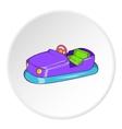 Children bumper machine icon cartoon style vector image