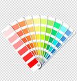 Color palette guide on transparent background vector image vector image