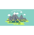 Mountain peak Summer spring landscape Nature vector image