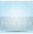 blue invitation vector image