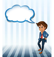 A man thinking with an empty callout vector image vector image