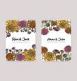 wedding invitation with japanese chrysanthemum vector image