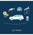 Car in gas station Fuel petrol dispenser pump vector image