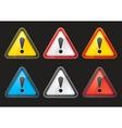 set hazard warning attention sign color vector image vector image