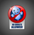 Cute ghost prohibition sign vector image vector image