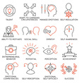 Set of icons related to business management - 20 vector image