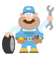 Smiling Mechanic Cartoon vector image