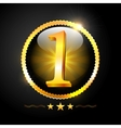 Number One Best Quality Sign vector image vector image