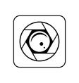 Minimalistic icon mobile camera for phone vector image