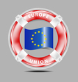 Save Europe Union vector image