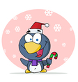 Penguin In The Snow vector image