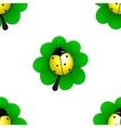 Yellow ladybug vector image