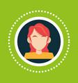 character girl red hair social media vector image