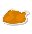 chicken meat delicious isolated icon vector image