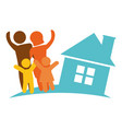 family home image poster vector image