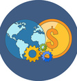 International business concept Flat design Icon in vector image