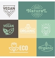 Natural and Health food Organic vector image