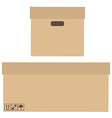 Two boxes vector image