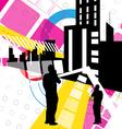 urban scene design vector image