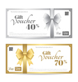Elegant gift card or gift voucher template vector image