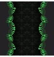 dark with green vector image