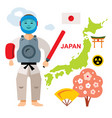 japan travel concept flat style colorful vector image vector image
