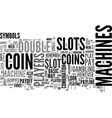 Basic slots features strategies text word cloud vector image