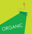 organic roller green vector image