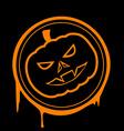 Halloween pumpkin Stock vector image