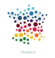 dotted texture France background vector image