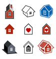Simple cottages collection real estate and vector image
