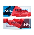 set of colorful gift faceted vouchers vector image