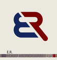 E R logo monogram vector image