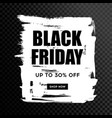 black friday sale black web banner poster sale vector image
