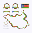 Colors of South Sudan vector image