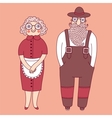 Elderly couple Grandparents vector image