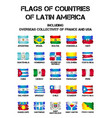flags of latin america countries vector image
