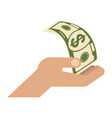hand with dollar vector image