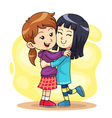 Hug Play 2 vector image